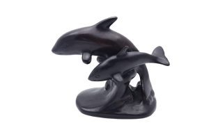 Resin Dolphin Parent And Baby