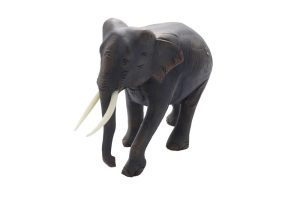 Resin Elephant With Trunk Down