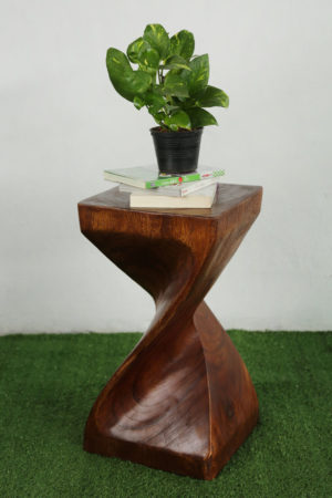 Single Twist Stool 50cm Honey