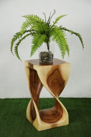 Single Twist Stool 50cm Natural