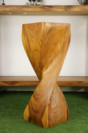 Single Twist Stool 76cm Honey
