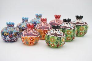 Hand Made Turkish Ceramic Pomegranate Sets