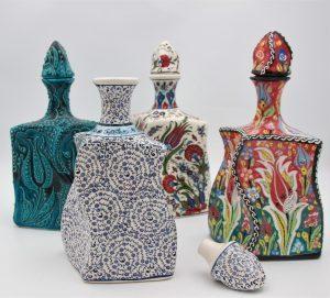 Hand Crafted Turkish Ceramic Liquor Twist Vase's