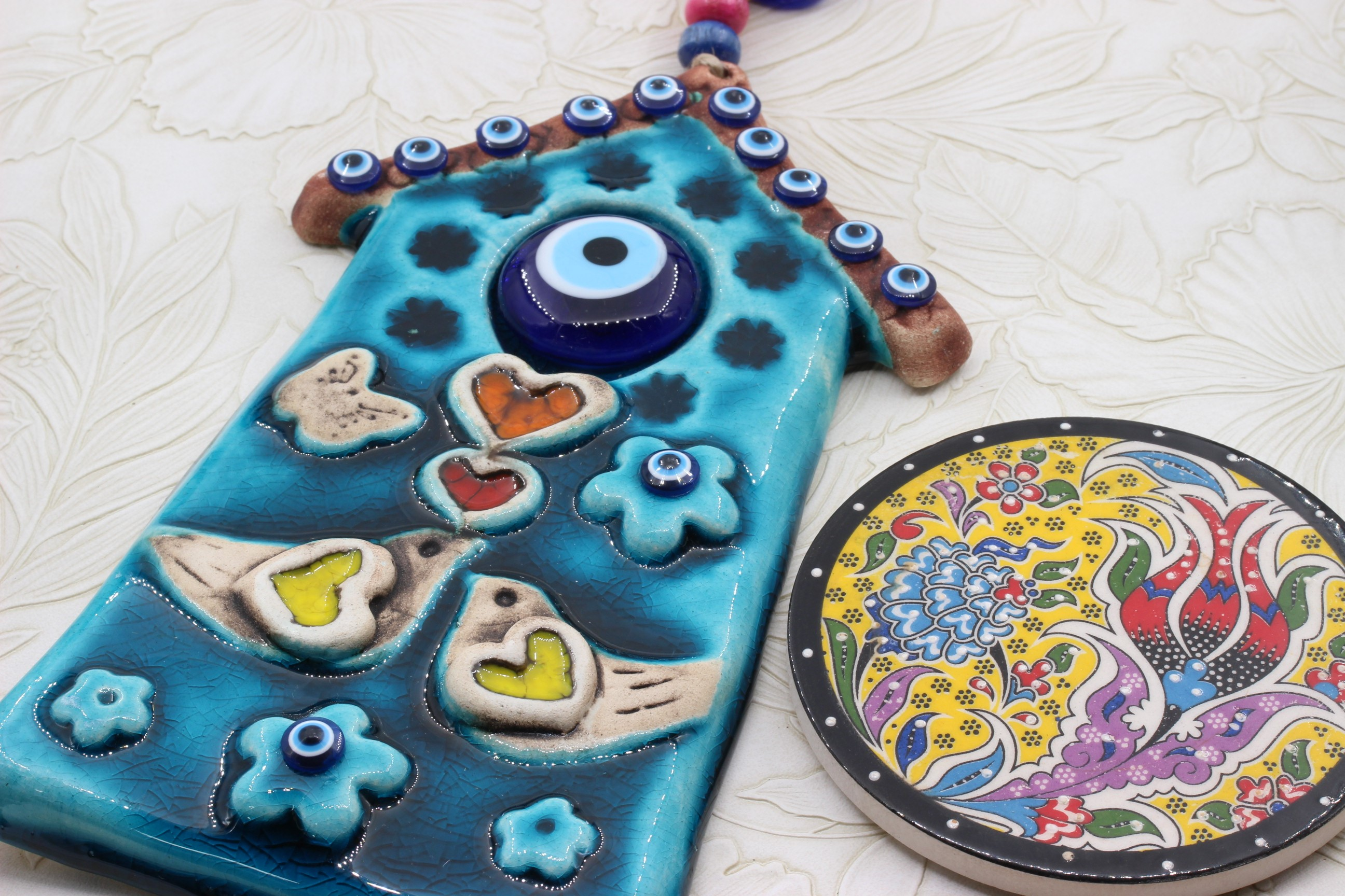 Hand Crafted Turkish Ceramic Wall Hanging Happy House 3 Nirvana