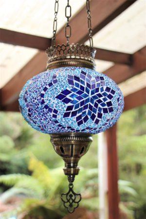Turkish Mosaic Hanging Candle Lanterns