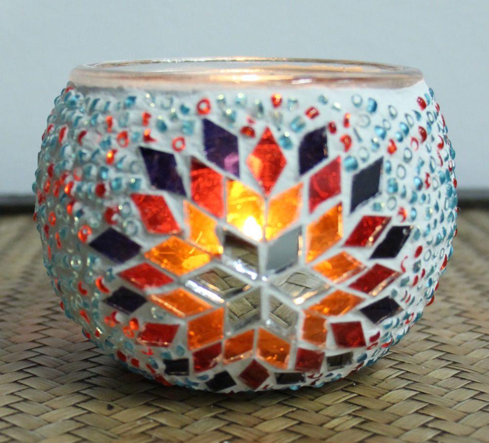 Turkish mosaic candle holder 4