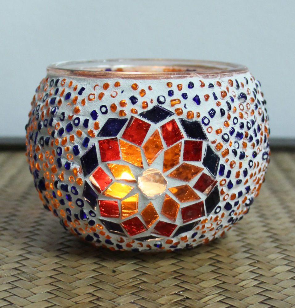 Turkish mosaic candle holder 6