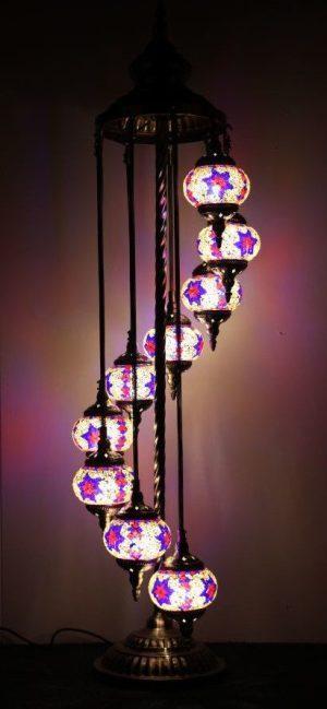 Turkish Mosaic Floor Lamp 9 globe Mosaic Starry Night