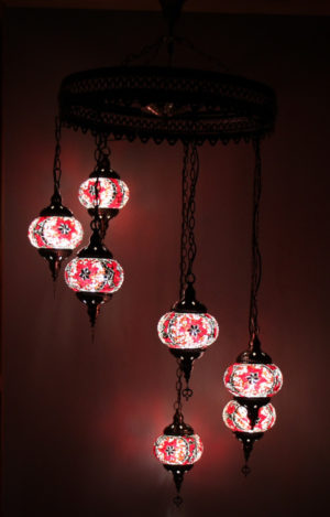 7 Globe Hanging Chandelier
