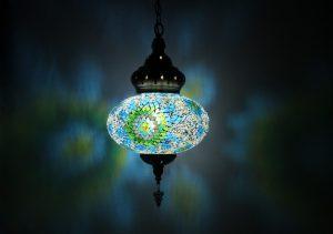 Hanging Chandelier 1 Globe Large