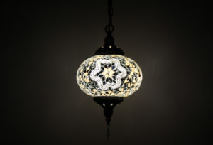Hanging Chandelier 1 Globe Medium
