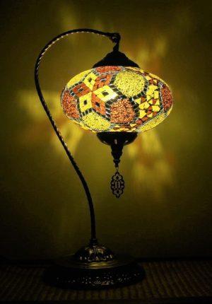 Turkish Mosaic Swan Lamp XLarge