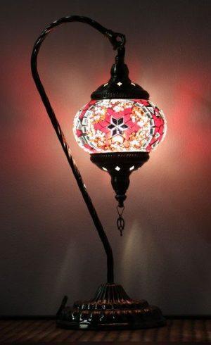 Turkish Mosaic Large Swan Lamp 46cm