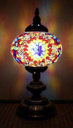 Turkish Mosaic Table Lamp Large Mosaic Fire Ball