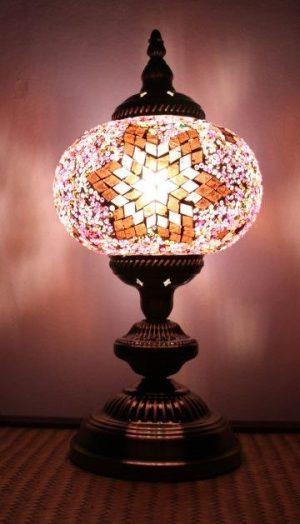 Turkish Mosaic Table Lamp Large Purple