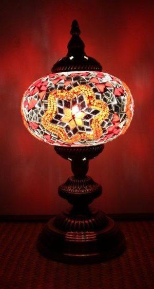 Turkish Mosaic Table Lamp Large Blue