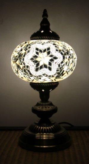 Turkish Mosaic Table Lamp Large White