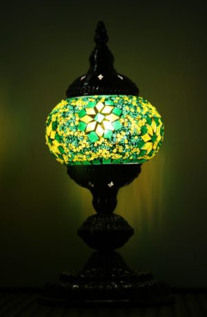 Turkish Mosaic Table Lamp Small Green