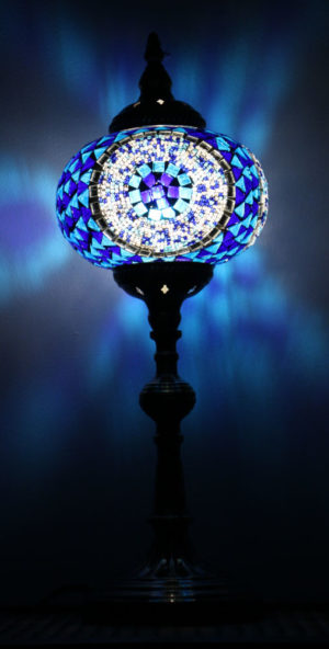 Turkish Mosaic Table Lamp XLarge Blue