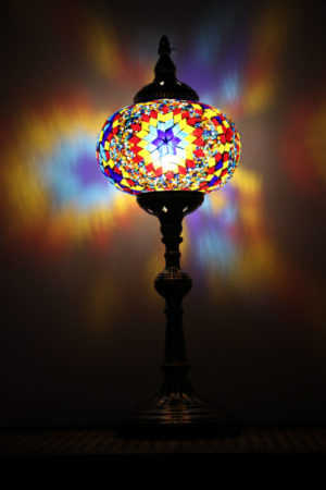 Turkish Mosaic Table Lamp XLarge Mosaic Fire Ball