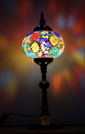 Turkish Mosaic Table Lamp XLarge Mosaic Shattered Star