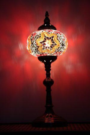 Turkish Mosaic Table Lamp XLarge Red