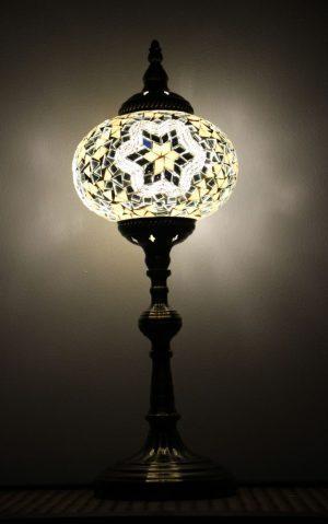Turkish Mosaic Table Lamp XLarge White