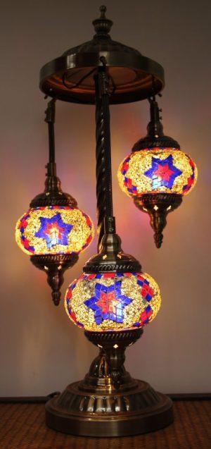 Turkish Mosaic Floor Lamp 3 globe Mosaic Starry Night