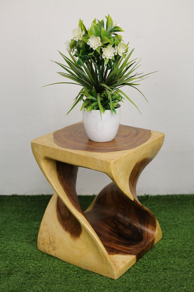 Twist Stool 30cm Natural Nirvana
