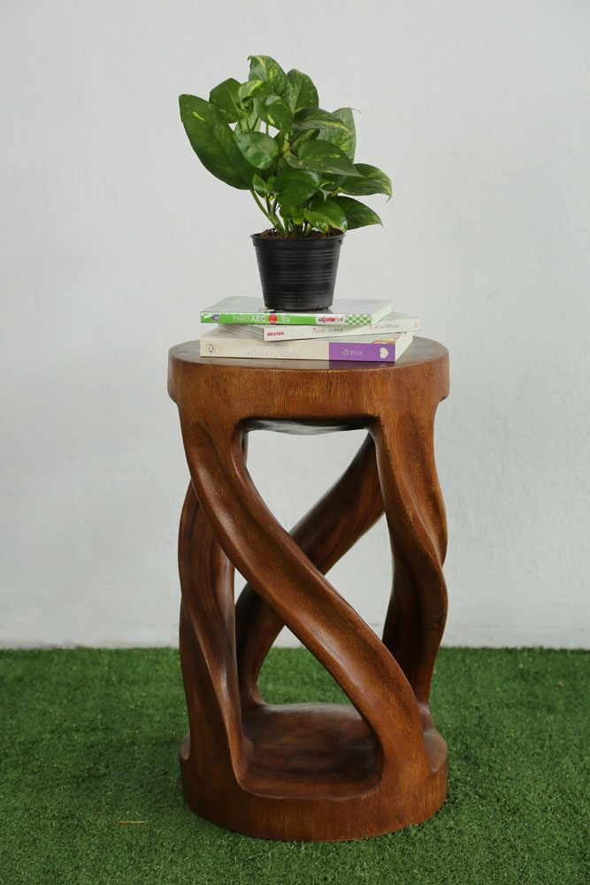 Vine Stool 50cm Honey