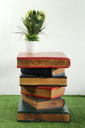 Wooden Book Table Coloured