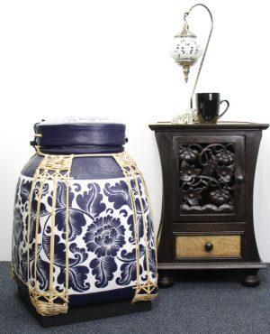 Xlarge 60cm Rice Basket Royal Blue Finish With White Background
