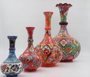 Stunning Hand Made Turkish Ceramic Vases