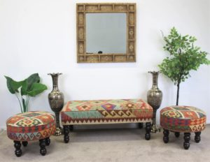 Hand Crafted Chobi Kilim Furniture