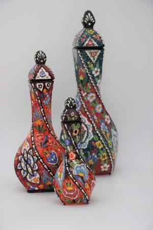 Hand Crafted Turkish Ceramic Twist Vases